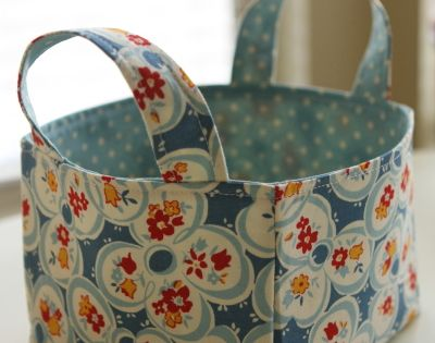 Fabric bag, cute idea for toy storage.