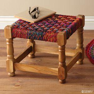 Furniture Bright Charpoy Stool Natural Home Decor Decor Indian Home Decor