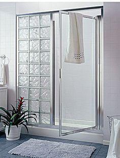 Glass Block Shower Within A Frame Includes A Door I Like This Better Than All Open Cuartos De Baños Pequeños Diseño De Baños Chicos Modelos De Baños Pequeños