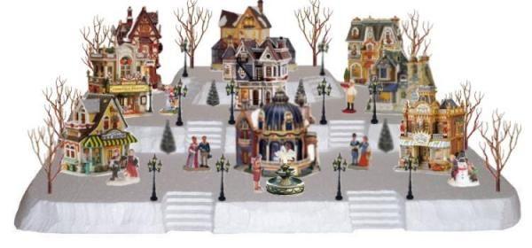 Christmas Village Platforms.Village Display Platform Always Makes Setting Up Much More