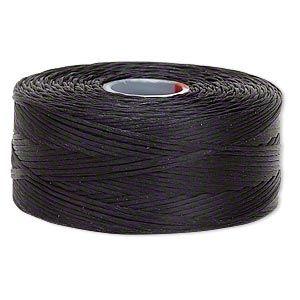 C-Lon Nylon Monocord Thread 234 feet White Size D Bobbin of 78 yards