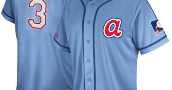Majestic Dale Murphy Atlanta Braves 3 Cooperstown Collection Traditional Player Jersey Light Blue Atlanta Braves Dale Murphy Atlanta Braves Apparel