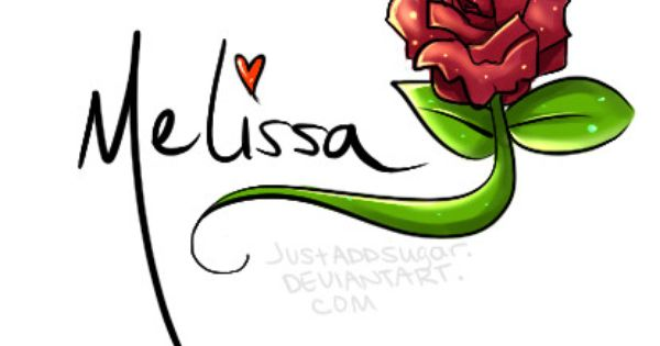 The Name Melissa in 3D coloured lights