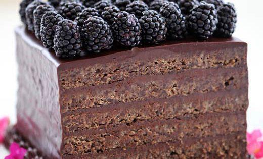 layer cake recipe - flourless chocolate almond torte