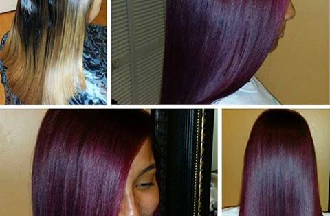 Transformation tuesday love this burgundy violet wine haircolor styled dcstylist - The splendid transformation of a vineyard in burgundy ...