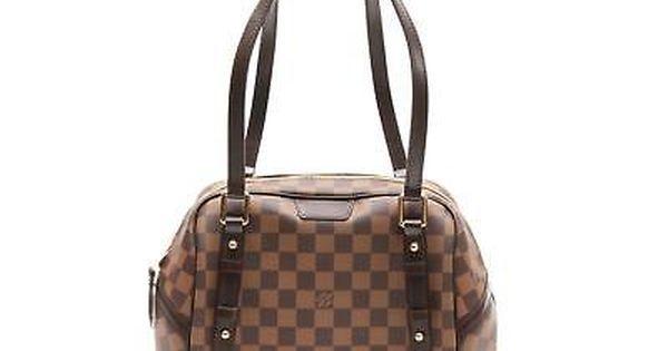 ca255761457 Auth LOUIS VUITTON Rivington PM Shoulder Bag Handbag Damier Canvas N41157    Clothing, Shoes and Accessories   Pinterest