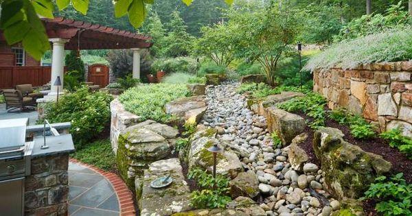 Am nager un jardin en pente avec murs de sout nement en for Amenager un jardin en pente