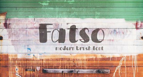 Fatso typeface by Piñata