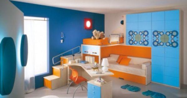 Chambre bleu orange | Déco interieure | Pinterest | Orange