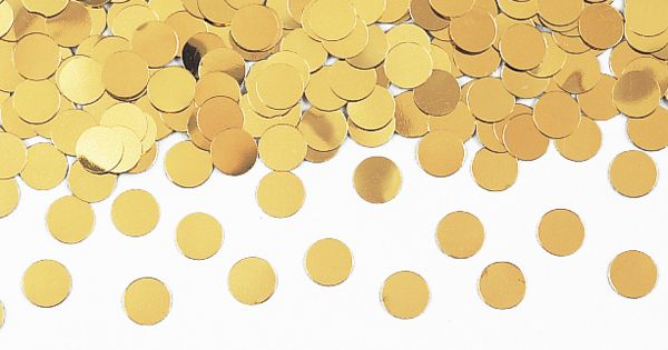 gold dot confetti