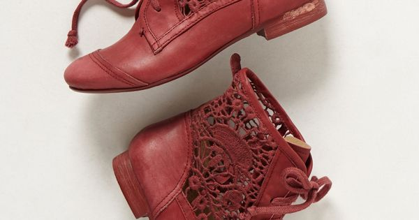 Irene Lace Red Booties