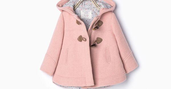 Manteaux b b fille 3 mois 4 ans enfants zara for Porte manteau bebe 9
