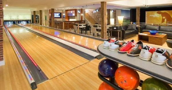 Open room in home bowling alley in home bowling alleys Bowling alley floor plans