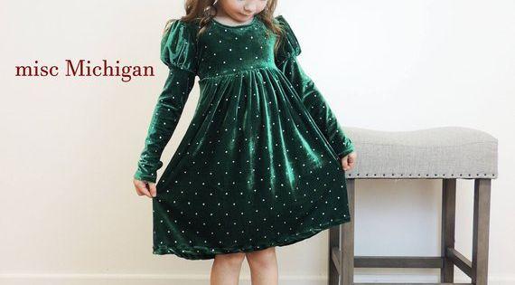 New Toddler Kids Girls Stretch Burgundy Velvet Dress Christmas Holidays 995