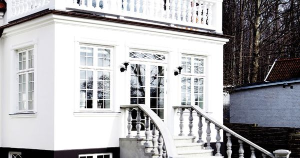 Black Foundation White House Outside Spaces Pinterest