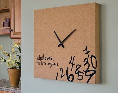 13 diy ideas how to make your own clock could use for Whatever clock diy