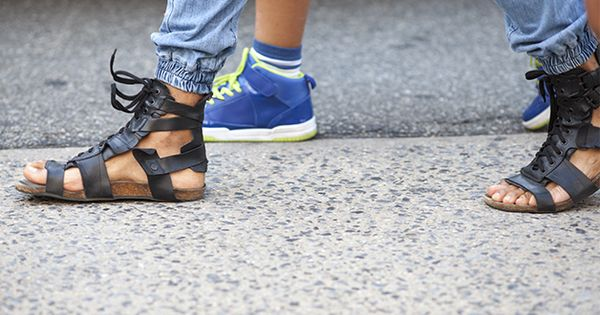 Justin Bridges captures the sneakers, brogues, and bucks hitting the city streets