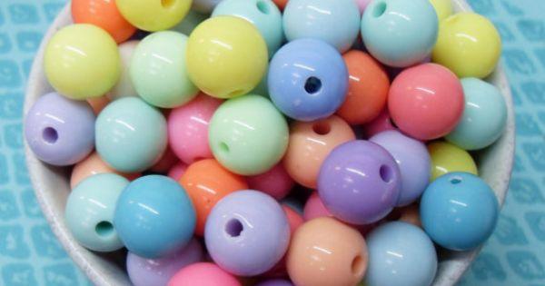300x 6mm Tiny Sea Blue Coloured Resin Globe beads . Super Bright