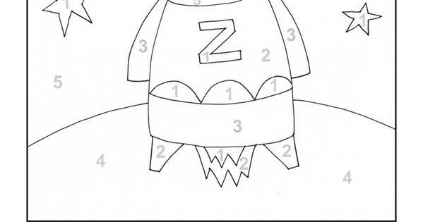 Printable Color By Number Rocket Ship