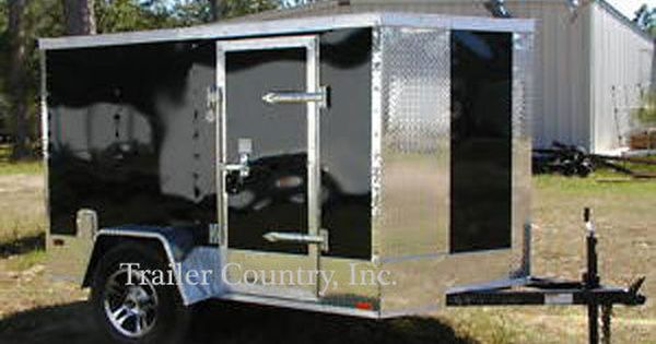 New 5x8 5 X 8 Motorcycle Enclosed Cargo Trailer W Ramp New 2016 Enclosed Cargo Trailers Cargo Trailers Equipment Trailers