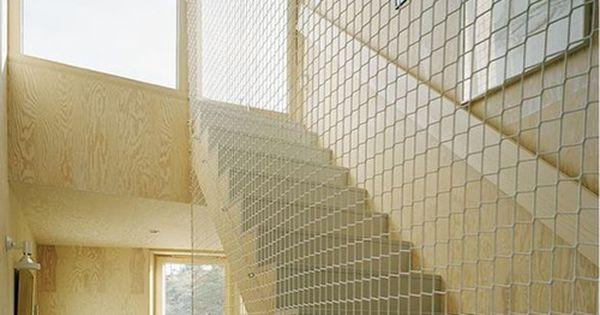 Stair Net Alternative To A Railing I N S I D E P L A C