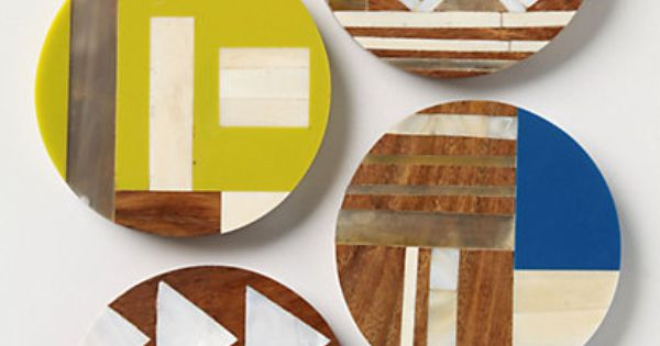 Me want this geometric wood coasters