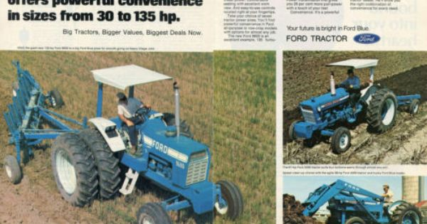 1973 Ford Tractor 5000 Parts : Ford blue farm tractor page magazine