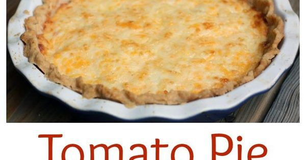 Tomato Pie- a savory summertime pie with layers of fresh tomatoes, fresh