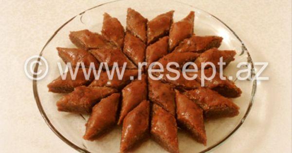 Sokoladli Qozlu Paxlava Resepti Http Resept Az Sokoladli Qozlu Paxlava 7751 Html Middle Eastern Recipes Food Bacon