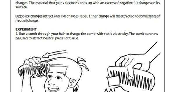 Natural Static electricity and Science worksheets on Pinterest