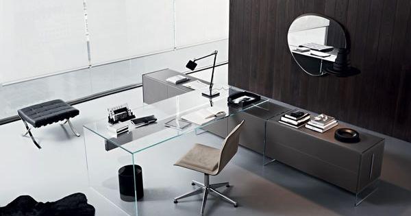 bureau-moderne   Meuble - Bureau   Pinterest   Scrivanie, Mobili e ...