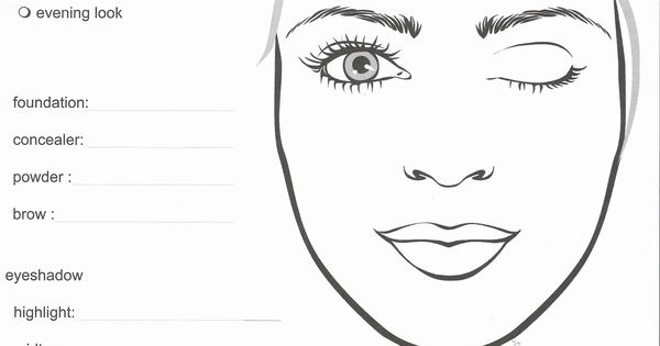 mary kay lipstick coloring pages   Mary Kay Makeup Face Sheets Sketch Coloring Page