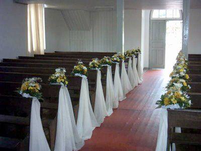 Decora o de casamento na igreja simples e barato - Capazos baratos para decorar ...