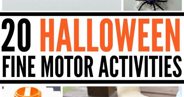 20 Halloween Fine Motor Activities Fine Motor Autism
