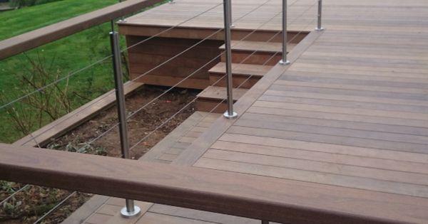 Ipe Hidden Fixed Hardwood Deck Amp Handrail Patio Amp Deck