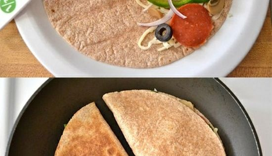 What? Pizzadilla! Healthy Pizza Just Got Real! It blows my mind. Pin