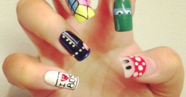 Press On Nails On Like Totally 80s Lee Press On Nails Press On Nails Diy Acrylic Nails