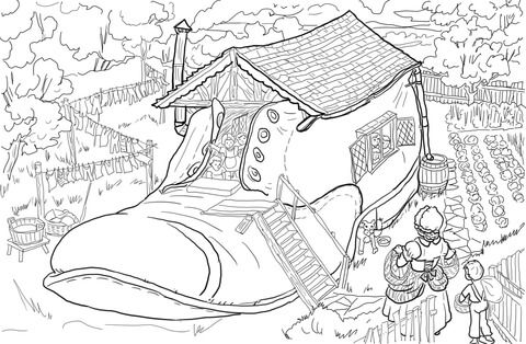 25+ Old woman who lived in a shoe coloring page info