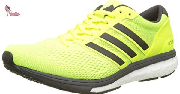adidas Adizero Adios, Chaussures de Running Compétition Femme, Jaune (Solar Yellow/Utility Black/Footwear White), 36 2/3 EU