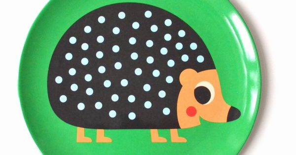 Ingela Arrhenius Melamine Hedgehog Plate By Omm Design