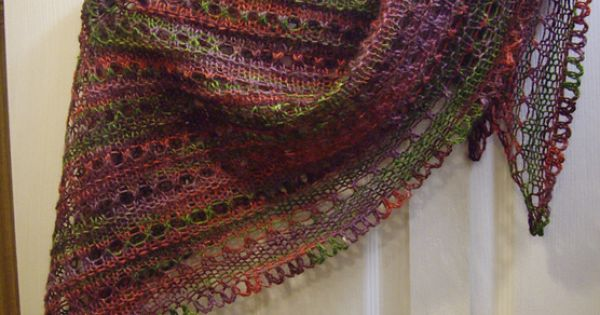 Ravelry Splendid Triangle Shawl With Crochet Border
