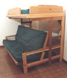 Bedroom Furniture Futon Bunk Bed Sofa Combo Plan Loft