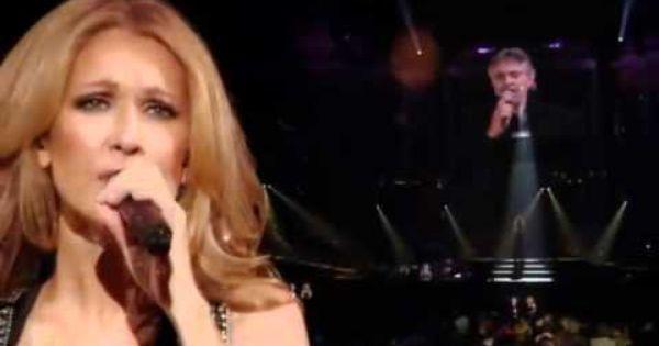 Celine Dion Andrea Bocelli The Prayer Hq With Lyrics Celine Dion Andrea Singer