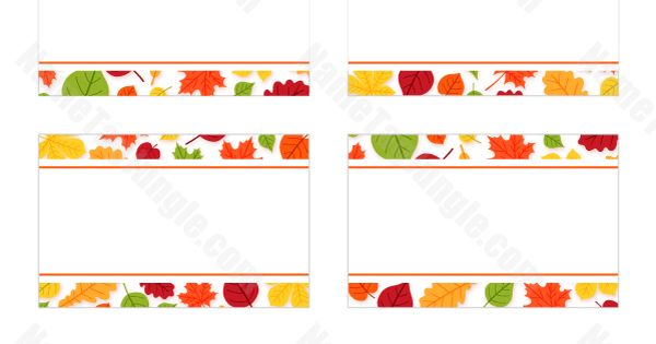 free printable fall leaves name tags  the template can