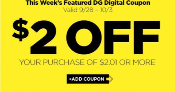 New 2 00 2 01 Dollar General Purchase Digital Coupon Digital