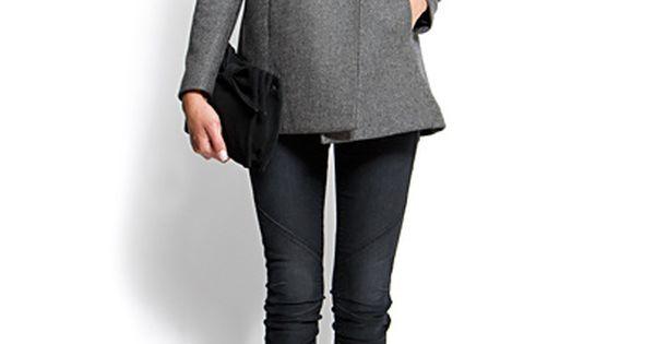Gunmetal Gray Coat & Skinny Jeans