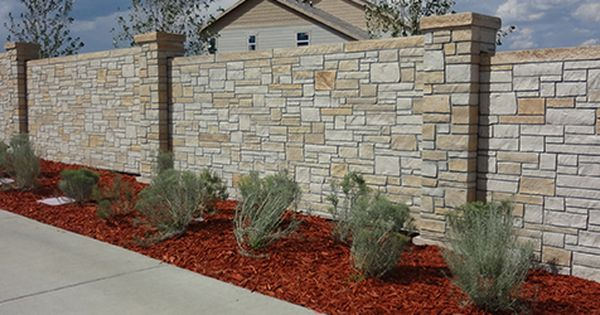 Sound Barrier Fence Reduces Traffic Noise Levels Up To 10 Decibels Stonetree Concrete Fence Hot Tub Landscaping Types Of Concrete