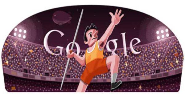 London 2012 Mens Javelin Google Doodles Olympic Games Javelin Throw