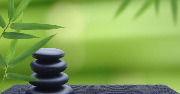 Mat Zen Stones Bamboo Zen Pinterest