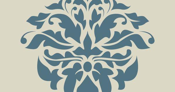 damas damass dentelle motif floral pochoir en vinyle adh sif ref 183 d coration fleuri. Black Bedroom Furniture Sets. Home Design Ideas